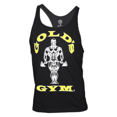 7c2d2c27ee32a6 Classic Golds Gym Stringer Tank Top – black