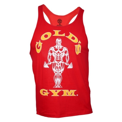 Tank-Top-von-Golds-Gym-Classic-Stringer-red