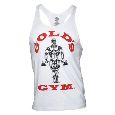 fafca35b62fab Classic Golds Gym Stringer Tank Top – white – BodyBeautifulApparel.com