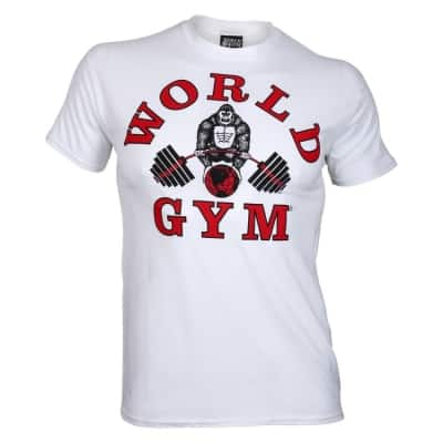 a61fc7a763e25 World Gym Classic T-Shirt white – BodyBeautifulApparel.com