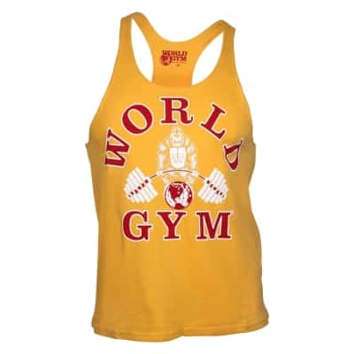 c884902e5e974 World Gym Classic Stringer Tank Top gold – BodyBeautifulApparel.com