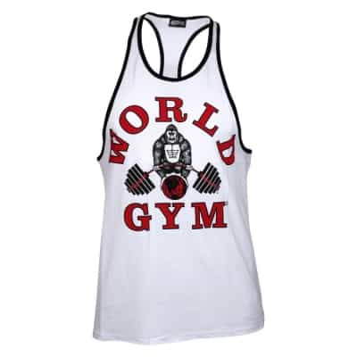 aa08bf4aadd7c World Gym Classic Stringer Tank Top white – BodyBeautifulApparel.com