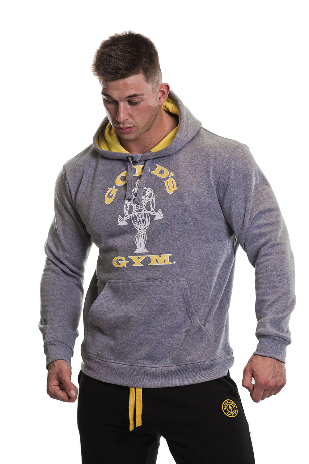 Gym King Muscle Hoodie In Black With Gold Logo | Mood board