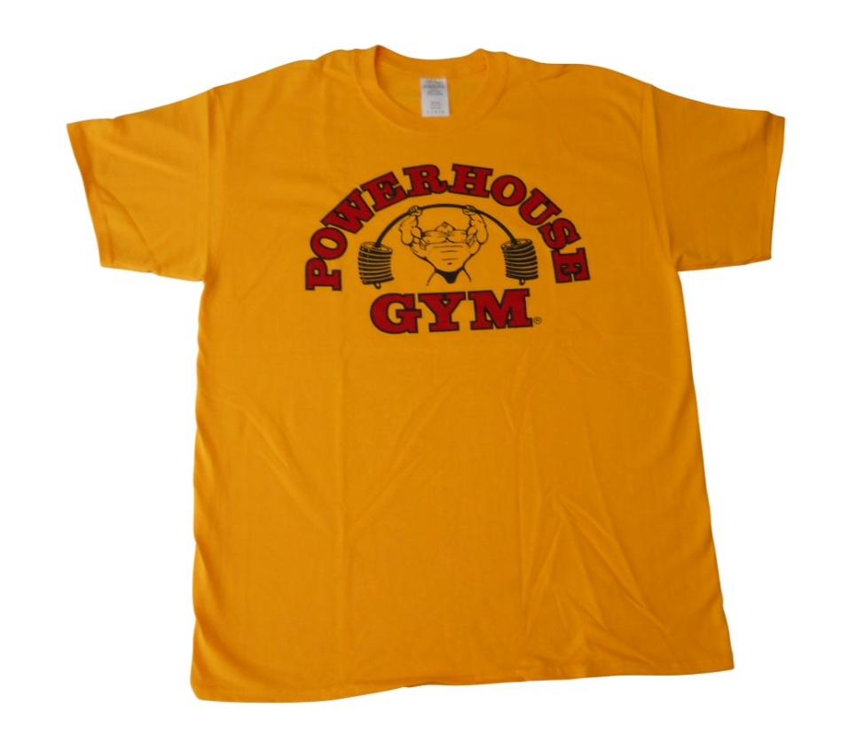 348c6d34e57a7 POWERHOUSE GYM TRADITIONAL ... Powerhouse Gorilla Wear Gym T Shirt  Bodybuilding Top ...
