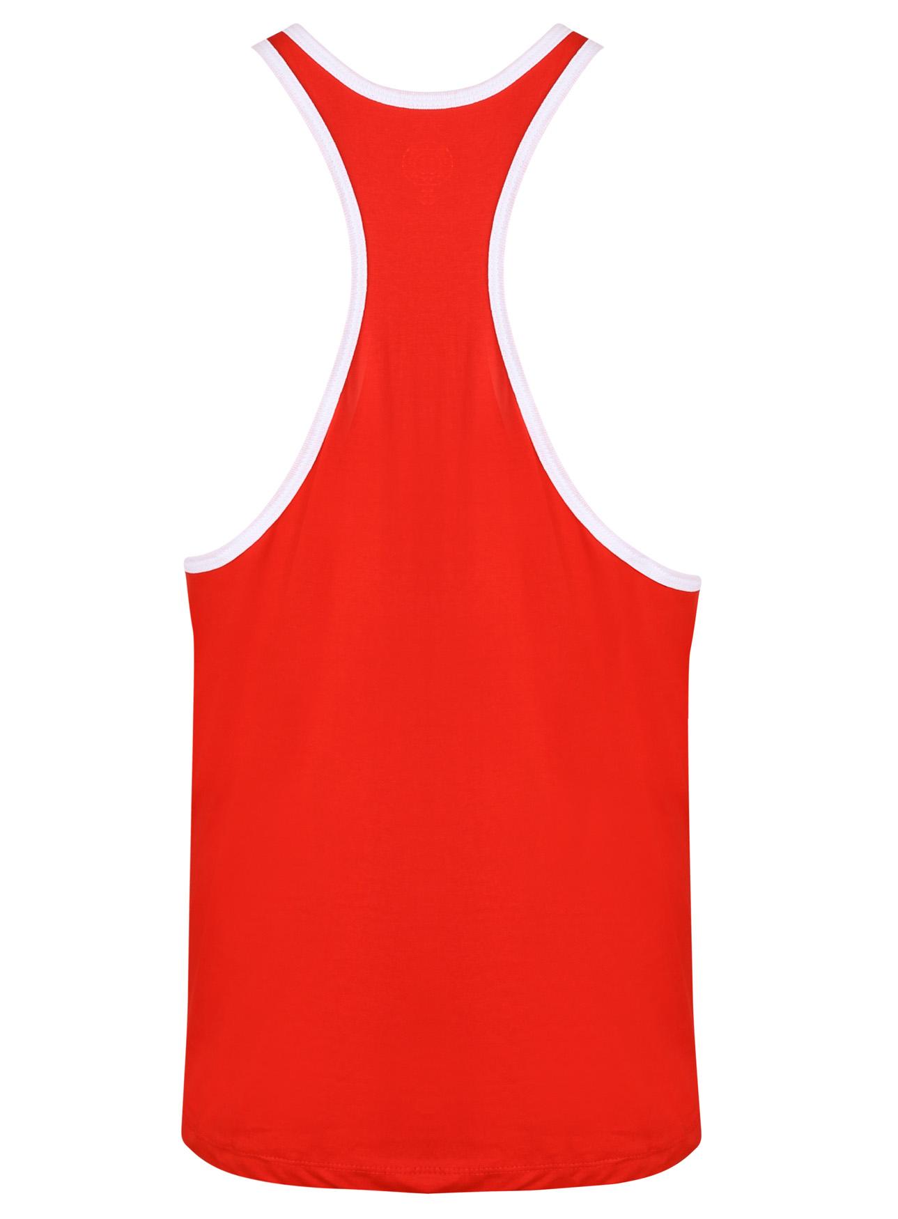 Gr/ün Golds Gym Muscle Joe Contrast Vest Tank Top XL Herren