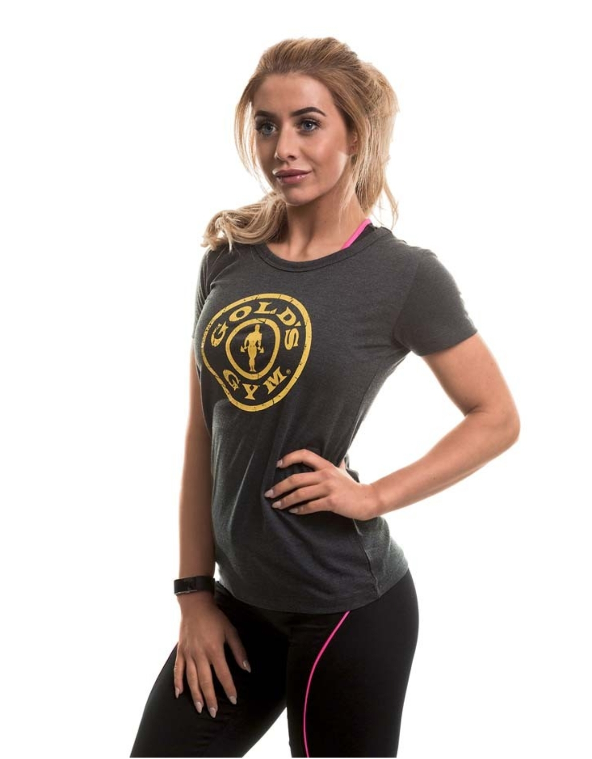 Golds Gym Muscle Joe Ladies Fitted Premium T-Shirt Sport Femme